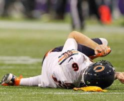 Cutler has gotten crushed this year.  His offensive line has to keep him healthy down the stretch.