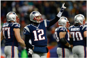 Tom Brady signals just how many weeks it will be until he plays another game.  With the bye week secured, the Patriots walk off the field with a 28-0 win over Miami.