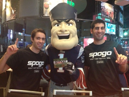We caught Pat Patriot Spogo'ing at CBS Scene last night. Where the hell were you?