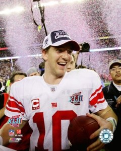 He still looks goofy even after winning the Super Bowl.